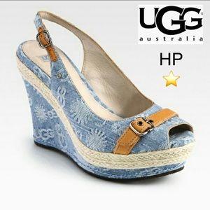🌎 New UGG denim platform wedge espadrille 🌍